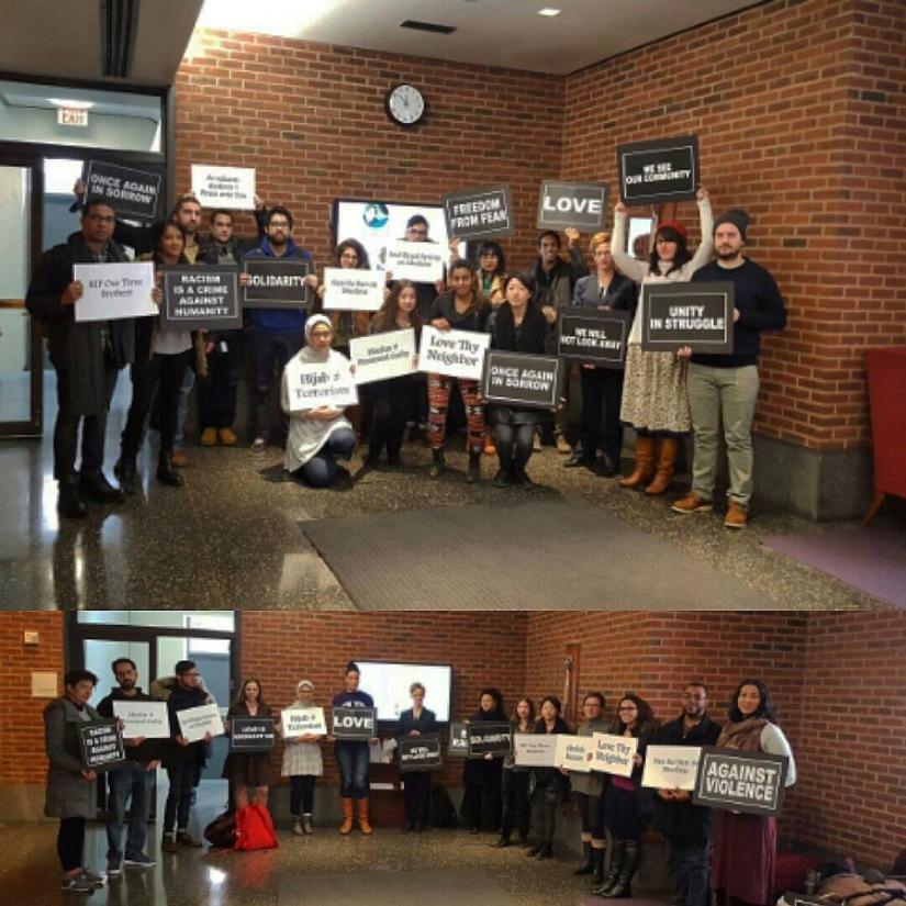NYU Law Vigil Against Islamophobia