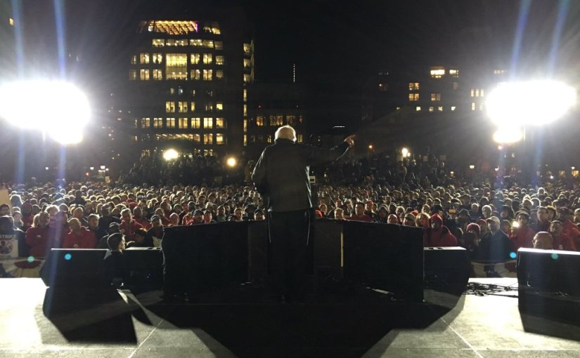 Election 2016: Sanders Brings Record Crowds to Washington Square Park