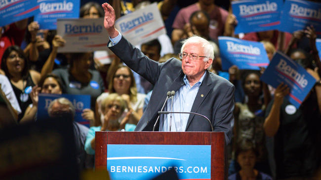 Election 2016: Bernie Sanders to Hold Rally in Washington SquarePark