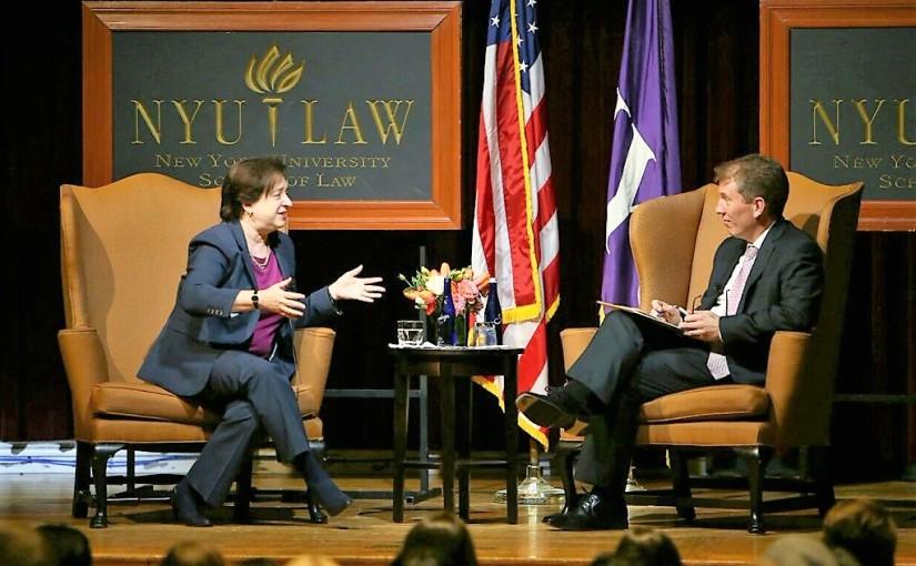 Associate Justice Elena Kagan Visits NYULaw